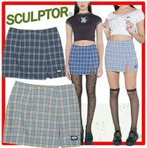 ☆韓国の人気☆SCULPTOR☆Check Slit Mini Skirt☆2色☆