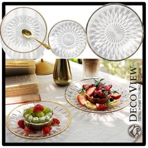 DECO VIEW(デコヴュー) 食器(皿) ★送料・関税込★DECOVIEW★Dia Gold Line Plate S★