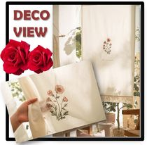 ★送料・関税込★DECOVIEW★Saffron flower embroidery curtain
