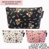 【MARIANNE KATE】LUCKY DOG STAND POUCH【国内配送】