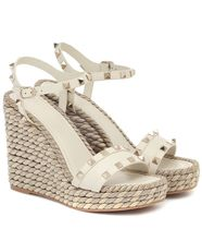 ''VALENTINO'' Rockstud Torchon wedge sandals