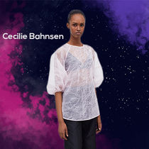 CECILIE BAHNSEN Astrid パフスリーブ ブラウス ピンク