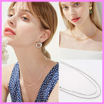 【Hei】italy chain layered necklace〜2連のチェーンネックレス