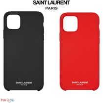 パリ限定!![Saint Laurent] IPHONE 11PRO CASE SILICONE