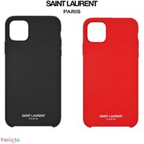 パリ限定!![Saint Laurent] IPHONE 11PRO MAX CASE SILICONE
