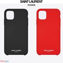 パリ限定!![Saint Laurent] IPHONE 11 CASE SILICONE