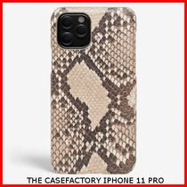 関税送料込☆THE CASEFACTORY☆IPHONE 11PRO PYTHON BEIGE/BROWN