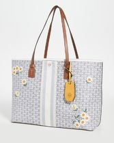 新作★大人気★Tory Burch Gemini Link Canvas Tote A4収納OK
