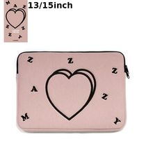 MAZZZZY★韓国 人気雑貨★heart laptop pouch Indi pink PC CASE