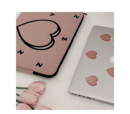 MAZZZZY スマホケース・テックアクセサリー MAZZZZY★韓国 人気雑貨★heart laptop pouch Indi pink PC CASE(2)