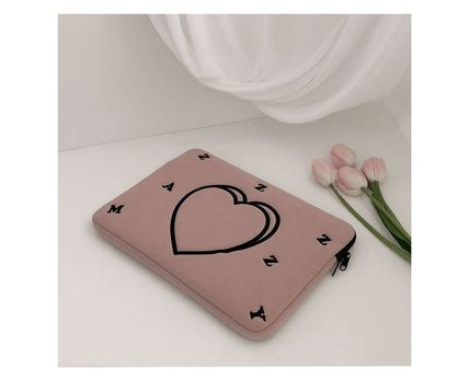 MAZZZZY スマホケース・テックアクセサリー MAZZZZY★韓国 人気雑貨★heart laptop pouch Indi pink PC CASE(5)