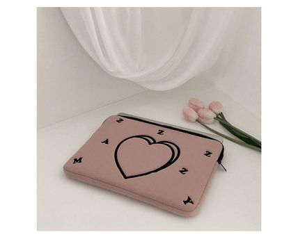 MAZZZZY スマホケース・テックアクセサリー MAZZZZY★韓国 人気雑貨★heart laptop pouch Indi pink PC CASE(6)