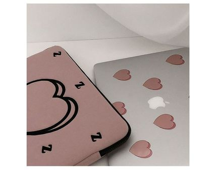 MAZZZZY スマホケース・テックアクセサリー MAZZZZY★韓国 人気雑貨★heart laptop pouch Indi pink PC CASE(8)