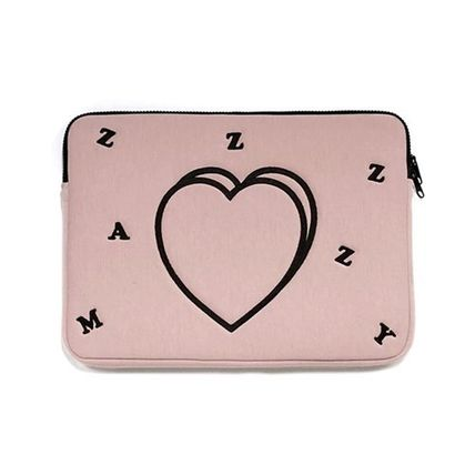 MAZZZZY スマホケース・テックアクセサリー MAZZZZY★韓国 人気雑貨★heart laptop pouch Indi pink PC CASE(14)