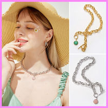 【Hei】gemstone toggle necklace〜ジェムストーンネックレス
