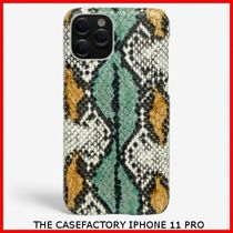 送関込☆THE CASEFACTORY☆IPHONE 11 PRO SNAKE AQUA/OCRA