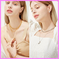 【Hei】snake & chunky chain set necklace〜ネックレスセット