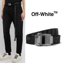 ラスト1点▼OFF-WHITE▼2.5cm Black 2.0 Industrialロゴベルト
