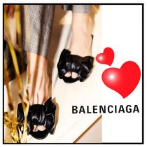関税送料込☆BALENCIAGA☆Black Square Knife Bow ミュール♪