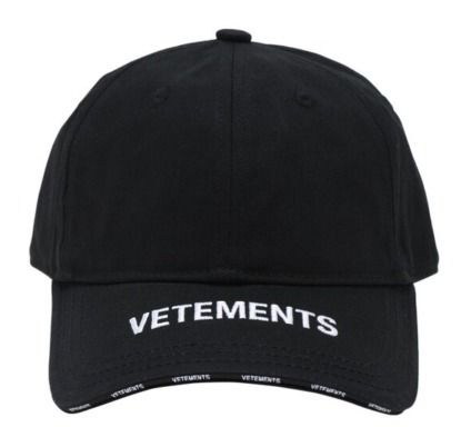 ◆国内発◆【VETEMENTS】LOGO COTTON BASEBALL キャップ