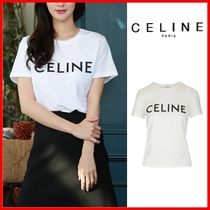 【CELINE】T-shirts in cotton ロゴ半袖Tシャツ◆正規品◆