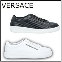 【VERSACE JEANS】★ロゴ付き★レースアップ紐スニーカー*全2色