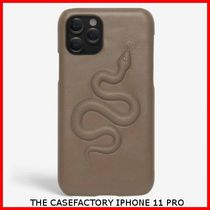 送関込☆THE CASEFACTORY☆IPHONE 11 PRO SNAKE CALF TAUPE