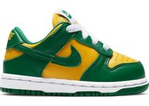 FW19 NIKE SB DUNK LOW BRAZIL GREEN YELLOW TD 8-16cm 黒