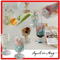 April in May(エイプリルインメイ) コップ・グラス ☆人気☆April in May☆Blossom mood☆Goblet☆flower glass☆