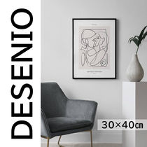 ★DESENIO★線画・ABSTRACT FIGURES NO2 POSTER・30×40㎝★
