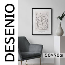 ★DESENIO★線画・ABSTRACT FIGURES NO2 POSTER・50×70㎝★