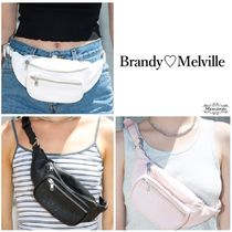 使える♪定番人気☆Brandy Melville☆Faux Leather Fanny Pack
