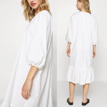 """MONKI"" Cotton midi dress July White"