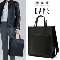 日本未入荷★DAKS★Pocket Square Tote Bag BLACK