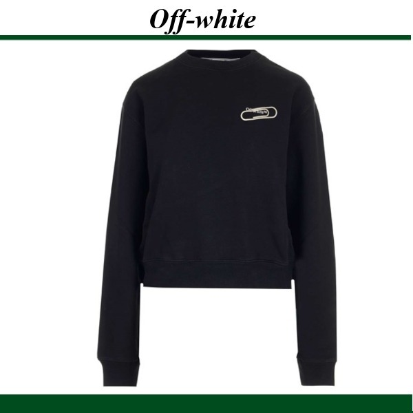 OFF WHITE★ paper clip detail スウェットシャツ (Off-White/スウェット・トレーナー) 56194381