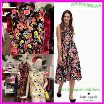 Kate Spade★お花柄floral bouquet ミディシャツドレス/oumu1199