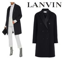 [関税・送料込] LANVIN☆Double-breasted wool-blend twill coat