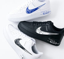 【Nike】AIR FORCE 1 LV8★手描き風スウォッシュ CW7581