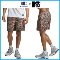 コラボ新作!! ☆Champion x MTV☆ Crinkle Nylon Print Shorts