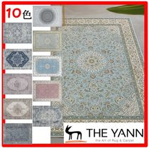 THE YENN(ザヤン) ラグ・カーペット ☆人気☆THE YENN☆Mint Garlic Persian Drawing Circle Rug☆