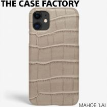 THE CASE FACTORY IPHONE 11 CROCODILE MASTICE LARGE PATTERN