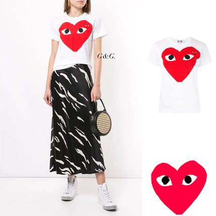 CUTEに★【COMME des GARCONS】PLAY BIGハートプリント T