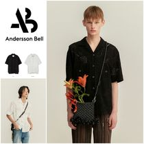 ANDERSSON BELL◆EMBROIDERY COTTON OPEN COLLAR SHIRT