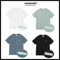 ◆VIVASTUDIO◆ BOX LOGO SHORT SLEEVE JS (4色) 人気 韓国発