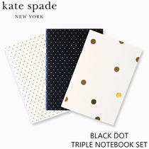 【kate spade】BLACK DOT TRIPLE NOTEBOOK SET【国内配送】