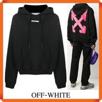 OFF-WHITE BACK ARROWS COTTON HOODIE