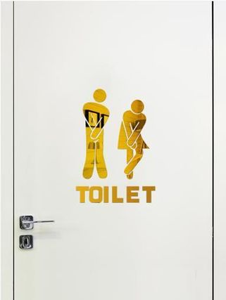 【220V】 Toilet signs acrylic stickers