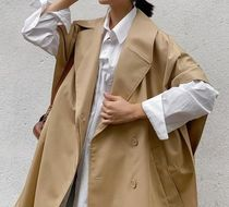 """COS(コス) アウターその他 """"COS"""" ORGANIC COTTON-MIX TRENCH CAPE CAMEL"""