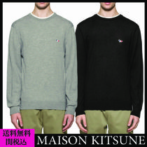 MAISON KITSUNE メゾンキツネ TRICOLOR FOX KNITTED JUMPER