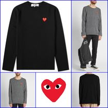 [COMME DES GARCONS] PLAY KNITTED CREW SWEAT (送料関税込み)